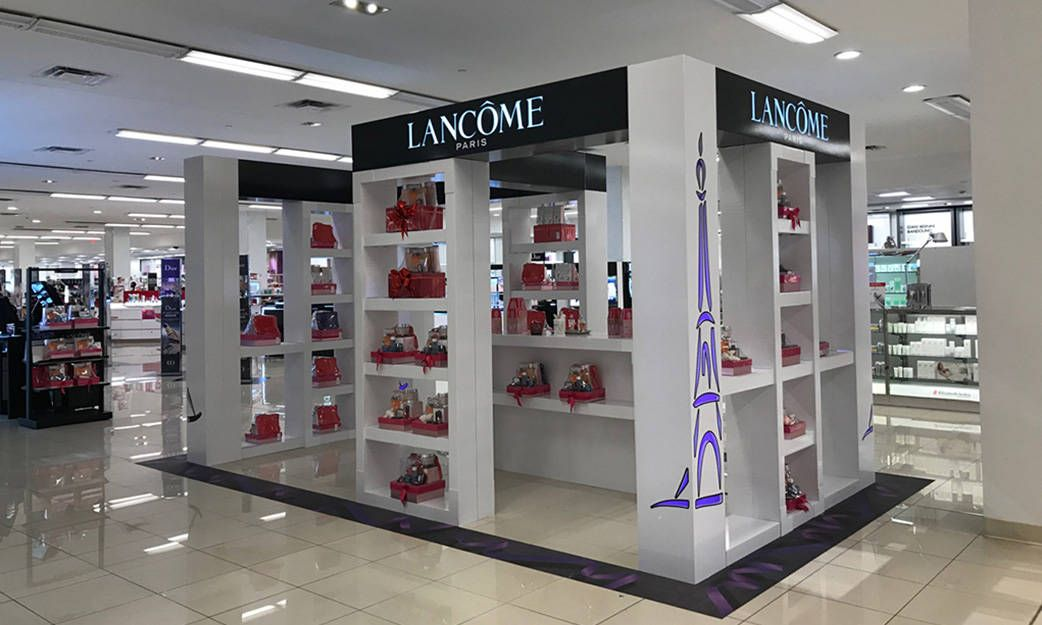 LANCOME  stand at Macy's stores.
